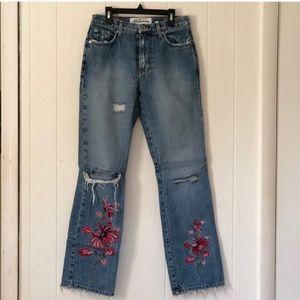 Vintage Express Embroidered Jeans